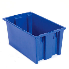 Plastic Shipping Containers - Stackable & Nesting SNT180 No Lid 18 x 11 x 6, Blue - Pkg Qty 6