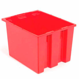 Stack And Nest Shipping Container SNT190 No Lid 19-1/2x15-1/2x10, Red - Pkg Qty 6