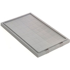 Lid LID201 for Stack And Nest Container - Plastic Storage SNT200, Gray - Pkg Qty 6