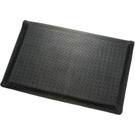 "Diamond Plate Ergonomic Mat 9/16""Thick 24""Wide Black Up To 75ft"