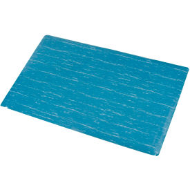 Marbleized Top Matting 36 Inch X 60 Inch Blue