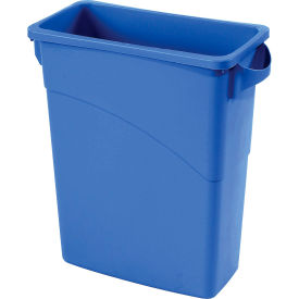 16 Gallon Rubbermaid Slim Jim Recycling Container - Blue