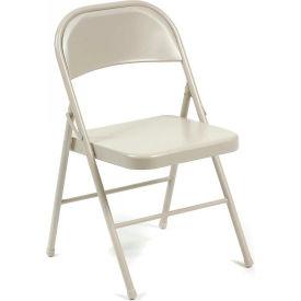Steel Folding Chair - Beige - Pkg Qty 4