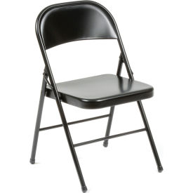 Steel Folding Chair Black