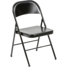 Steel Folding Chair - Black - Pkg Qty 4