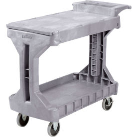 "Akro-Mils Two-In-One Plastic Stock & Utility ProCart 40"" L x 19-1/2"" W Gray"