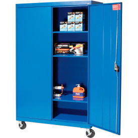 Sandusky Mobile Storage Cabinet TA3R462466- 46x24x66, Blue