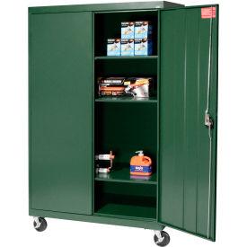 Sandusky Mobile Storage Cabinet TA3R462460- 46x24x66, Green
