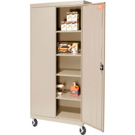 Mobile Storage Cabinet 30x24x72 Putty