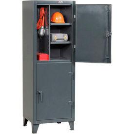 Strong Hold® Personnel Locker 26242TPL2DOOR - Double Tier 26x24x78 2 Doors Assembled Gray