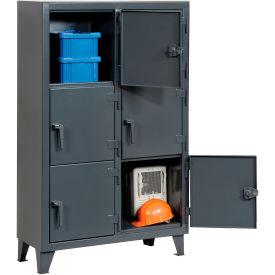 Strong Hold® Personnel Locker 3.55-18-3TMT - Multiple Tier 42x18x68 6 Doors Assembled Gray
