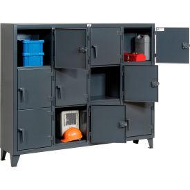Strong Hold® Personnel Locker 75-18-3TMT - Multiple Tier 82x18x68 12 Doors Assembled Gray