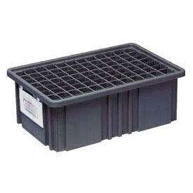"""Quantum Conductive Dividable Grid Container - DG92060CO, 16-1/2""""L x 10-7/8""""W x 6""""H, Black - Pkg Qty 8"""
