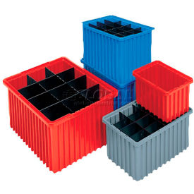 Akro-Mils Akro-Grid Dividable Container 33105 10-7/8 x 8-1/4 x 5 Gray - Pkg Qty 20