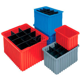 Akro-Mils Akro-Grid Dividable Container 33166 16-1/2 x 10-7/8 x 6 Red - Pkg Qty 8