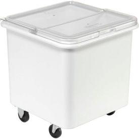Rubbermaid® 3601 3.8 Cu. Ft. Plastic Bin Truck with Flip-Up Clear Lid