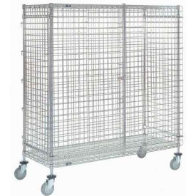 Wire Security Storage Truck 36 X 18 X 69 With Brakes 1200 Lb. Capacity