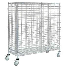 Wire Security Storage Truck 48 X 14 X 69 With Brakes 1200 Lb. Capacity
