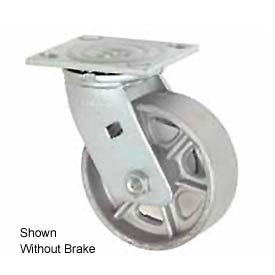 "Faultless Swivel Plate Caster 4"" Steel Wheel With Brake"