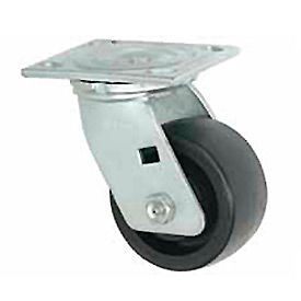 """Faultless Swivel Plate Caster 1465W-4 4"""" Thermoplastic Wheel"""