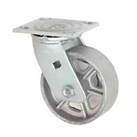 "Faultless Swivel Plate Caster 6"" Steel Wheel"