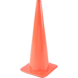 "28"" Traffic Cone W/ Custom Imprinting, Non-Reflective, Orange, 5 lbs, 2825-05-L - Pkg Qty 50"