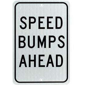 Aluminum Sign - Speed Bump Ahead - .080mm Thick