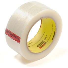 "3M™ Carton Sealing Tape, 371, 2"" X 110 Yard, 1.9 Mil, Clear, 36 Rolls/Pack"