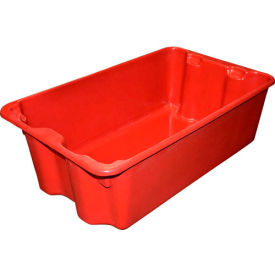 """Molded Fiberglass Nest and Stack Tote 780508 - 24-1/4"""" x 14-3/4"""" x 8"""" Red - Pkg Qty 10"""