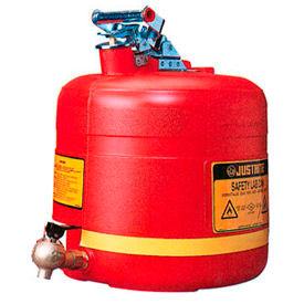 Shelf Can Safety Faucet At Bottom 5 Gallon Polyethylene, 14545