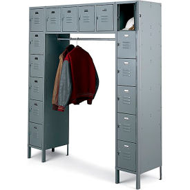 Penco 68231X-028-KD VanGuard Locker 16 Person 72x18x72 16 Doors Ready To Assemble Gray