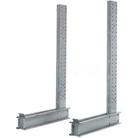 "Cantilever Rack Single Sided Heady Duty Upright, 3"" D x 8' H, 21500 Lbs Capacity"