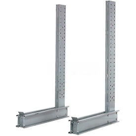 "Cantilever Rack Single Sided Upright, 49"" D x 12' H, 17800 Lbs Capacity"