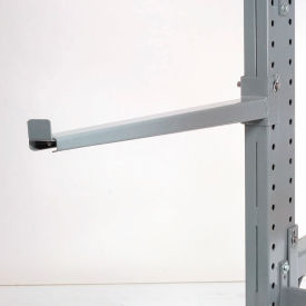 """Cantilever Rack Straight Arm With 2"""" Lip, 48"""" L, 2000 Lbs Capacity"""