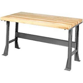 "72"" W x 30"" D Extra Long Industrial Workbench, Shop Top Safety Edge - Gray"