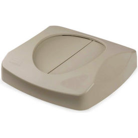 Lid For 23 Gallon Square Rubbermaid Waste Receptacles - Beige