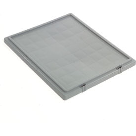 Akro-Mils Lid 35301 For Nest & Stack Tote 35300, Gray - Pkg Qty 3