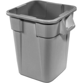 40 Gallon Square Rubbermaid Brute Waste Receptacles - Gray