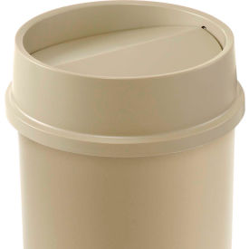 Lid For 11 & 22 Gallon Round Rubbermaid Waste Receptacles - Beige