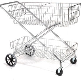 Wire Utility Basket Mail Cart 200 Lb. Capacity
