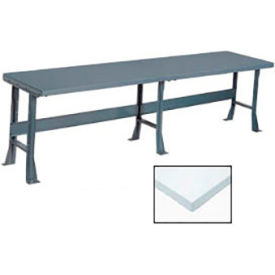 "144"" W x 36"" D Extra Long Production Workbench, Plastic Laminate Square Edge - Gray"