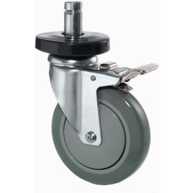 "Nexel® Stem Casters Set (4) 5"" Polyurethane Wheel, 2 With Brakes 1200 Lbs."