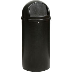 15 Gallon Rubbermaid Marshal Waste Receptacles - Black