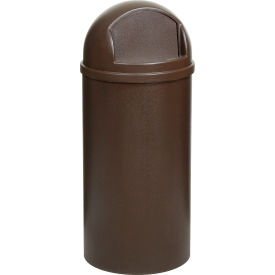 15 Gallon Rubbermaid Marshal Waste Receptacles - Brown