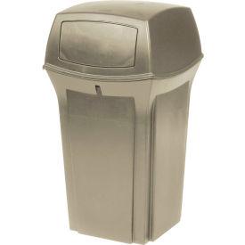 Rubbermaid Ranger® 35 Gallon 2 Door Outdoor Trash Can - Beige 8430-88