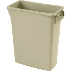 16 Gallon Rubbermaid Slim Jim Recycling Container - Beige