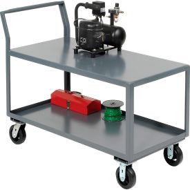 Jamco 2 Shelf All-Welded Heavy Duty Service Cart SL248 48x24 2400 Lb. Cap