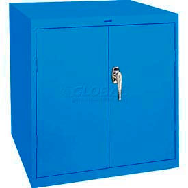 Sandusky Elite Series Desk Height Storage Cabinet EA11361830 - 36x18x30, Blue