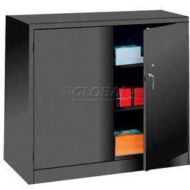 Lyon Storage Cabinet KK1046 Counter Height 36x24x42 - Black