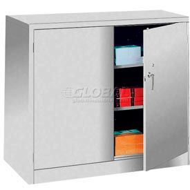 Lyon Counter Height Storage Cabinet DD1035  - 48x24x42 - Gray